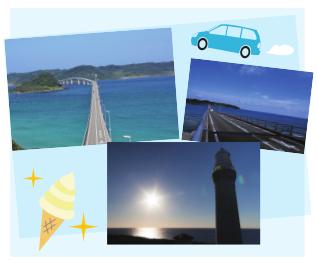 角島、角島灯台、角島大橋