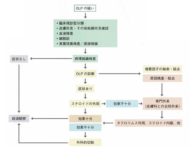 扁平苔癬の治療の流れ図